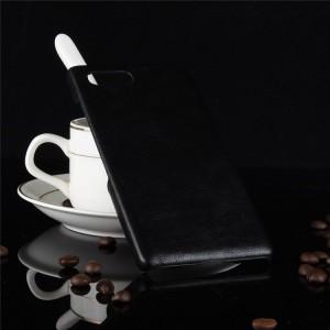Пластиковый непрозрачный матовый чехол с текстурным покрытием Кожа для BlackBerry KEY2  Черный