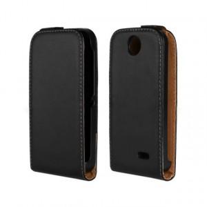 Чехол вертикальная книжка на пластиковой основе на магнитной защелке для HTC Desire 310