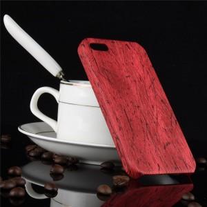 Пластиковый непрозрачный матовый чехол с текстурным покрытием Дерево для Iphone 5/5s /SE