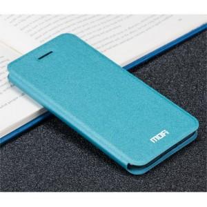 Чехол горизонтальная книжка подставка текстура Золото на силиконовой основе для Iphone 7 Plus/8 Plus Голубой