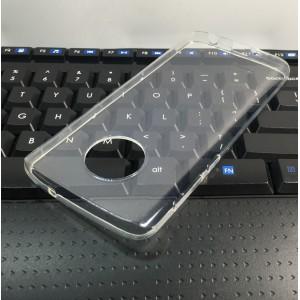 Силиконовый глянцевый транспарентный чехол для Motorola Moto G6