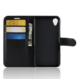 Чехол портмоне подставка на силиконовой основе с отсеком для карт на магнитной защелке для ASUS ZenFone Live L1  Черный