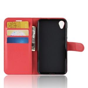 Чехол портмоне подставка на силиконовой основе с отсеком для карт на магнитной защелке для ASUS ZenFone Live L1  Красный