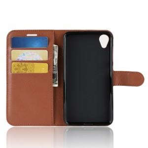 Чехол портмоне подставка на силиконовой основе с отсеком для карт на магнитной защелке для ASUS ZenFone Live L1  Коричневый