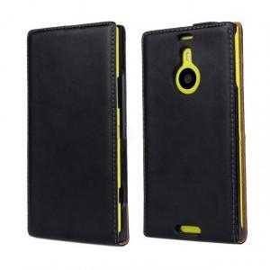 Чехол вертикальная книжка на пластиковой основе на магнитной защелке для Nokia Lumia 1520  Черный