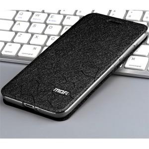 Чехол горизонтальная книжка подставка текстура Соты на силиконовой основе для Xiaomi RedMi 6A Черный
