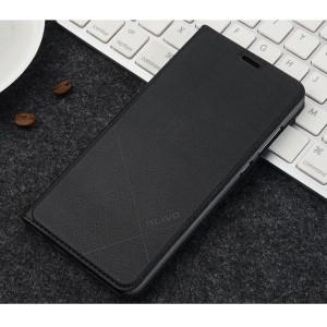 Чехол горизонтальная книжка подставка текстура Линии на пластиковой основе с отсеком для карт для Xiaomi RedMi 6A Черный