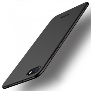 Пластиковый непрозрачный матовый чехол с улучшенной защитой элементов корпуса для Xiaomi RedMi 6A Черный