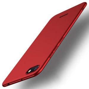 Пластиковый непрозрачный матовый чехол с улучшенной защитой элементов корпуса для Xiaomi RedMi 6A Красный