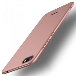 Пластиковый непрозрачный матовый чехол с улучшенной защитой элементов корпуса для Xiaomi RedMi 6A Розовый