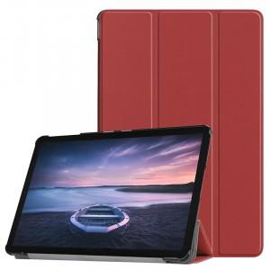 Сегментарный чехол книжка подставка на непрозрачной поликарбонатной основе для Samsung Galaxy Tab S4 Коричневый