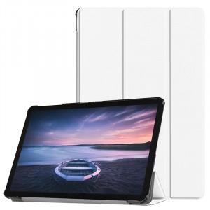 Сегментарный чехол книжка подставка на непрозрачной поликарбонатной основе для Samsung Galaxy Tab S4 Белый