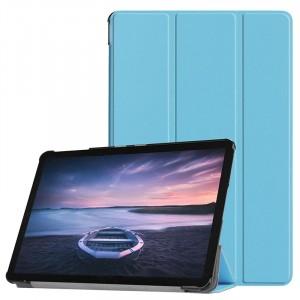 Сегментарный чехол книжка подставка на непрозрачной поликарбонатной основе для Samsung Galaxy Tab S4 Голубой