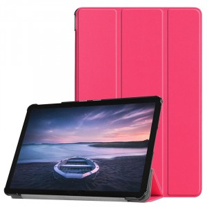 Сегментарный чехол книжка подставка на непрозрачной поликарбонатной основе для Samsung Galaxy Tab S4 Красный