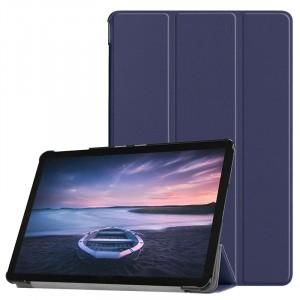 Сегментарный чехол книжка подставка на непрозрачной поликарбонатной основе для Samsung Galaxy Tab S4 Синий