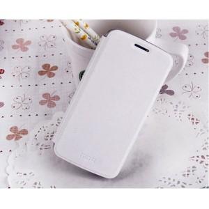 Чехол горизонтальная книжка подставка на пластиковой основе для Samsung Galaxy Grand 2 Белый