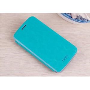 Чехол горизонтальная книжка подставка на пластиковой основе для Samsung Galaxy Grand 2 Голубой