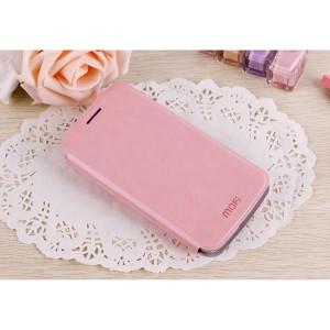 Чехол горизонтальная книжка подставка на пластиковой основе для Samsung Galaxy Grand 2 Розовый