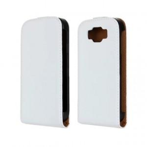 Чехол вертикальная книжка на пластиковой основе на магнитной защелке для Samsung Galaxy Grand Neo Белый