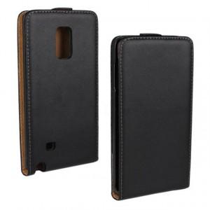 Чехол вертикальная книжка на пластиковой основе на магнитной защелке для Samsung Galaxy Note Edge  Черный