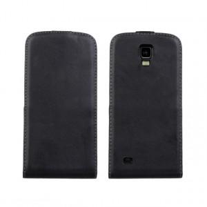 Чехол вертикальная книжка на пластиковой основе на магнитной защелке для Samsung Galaxy S4 Active Черный