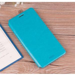 Чехол горизонтальная книжка подставка на силиконовой основе для Xiaomi RedMi 6A Голубой