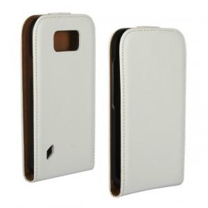 Чехол вертикальная книжка на пластиковой основе на магнитной защелке для Samsung Galaxy S6 Active  Белый