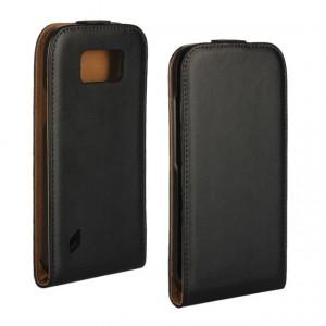 Чехол вертикальная книжка на пластиковой основе на магнитной защелке для Samsung Galaxy S6 Active  Черный