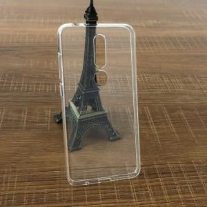 Силиконовый глянцевый транспарентный чехол для Nokia 5.1 Plus
