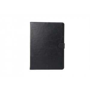 Винтажный чехол книжка подставка на непрозрачной поликарбонатной основе с магнитной защелкой и отсеком для карт для Samsung Galaxy Tab S4  Черный