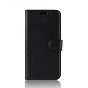 Чехол портмоне подставка на силиконовой основе с отсеком для карт на магнитной защелке для   Черный