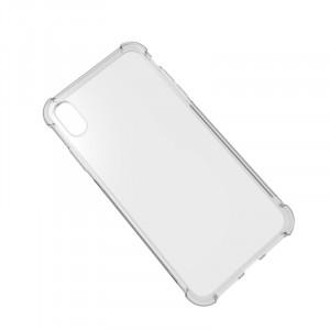 Силиконовый глянцевый транспарентный чехол с усиленными углами для Iphone Xs Max