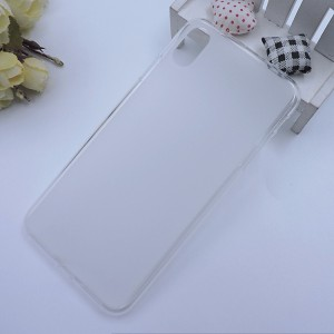 Силиконовый матовый полупрозрачный чехол для Iphone Xs Max Белый