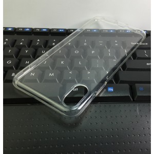 Силиконовый глянцевый транспарентный чехол для Iphone Xs Max