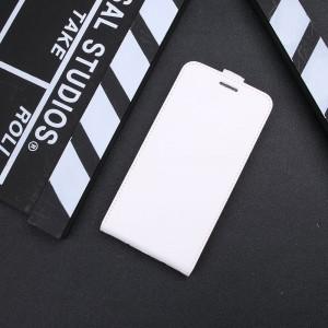 Глянцевый водоотталкивающий чехол вертикальная книжка на силиконовой основе с отсеком для карт на магнитной защелке для Iphone Xr  Белый