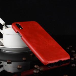 Пластиковый непрозрачный матовый чехол с текстурным покрытием Кожа для Iphone Xr  Красный