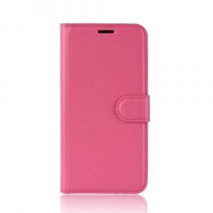Чехол портмоне подставка на силиконовой основе с отсеком для карт на магнитной защелке для Iphone Xr  Пурпурный