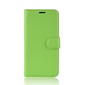 Чехол портмоне подставка на силиконовой основе с отсеком для карт на магнитной защелке для Iphone Xr  Зеленый