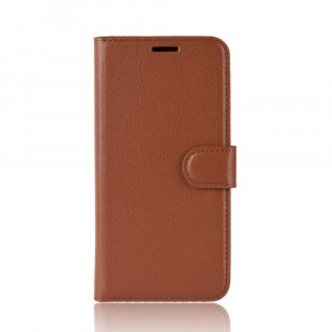 Чехол портмоне подставка на силиконовой основе с отсеком для карт на магнитной защелке для Iphone Xs Max Коричневый