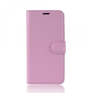 Чехол портмоне подставка на силиконовой основе с отсеком для карт на магнитной защелке для Iphone Xs Max Розовый