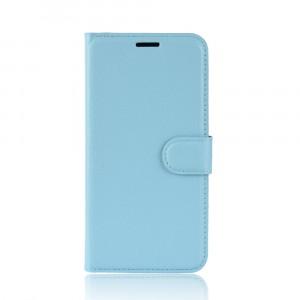 Чехол портмоне подставка на силиконовой основе с отсеком для карт на магнитной защелке для Iphone Xs Max Голубой