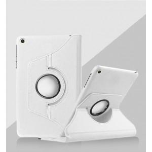 Роторный чехол книжка подставка на непрозрачной поликарбонатной основе для Xiaomi Mi Pad 4 Белый