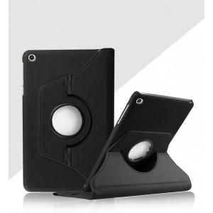 Роторный чехол книжка подставка на непрозрачной поликарбонатной основе для Xiaomi Mi Pad 4 Черный