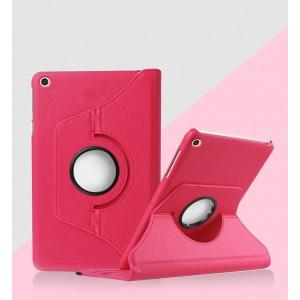 Роторный чехол книжка подставка на непрозрачной поликарбонатной основе для Xiaomi Mi Pad 4 Красный