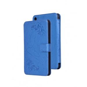 Чехол горизонтальная книжка подставка текстура Узоры на силиконовой основе на магнитной защелке для Xiaomi Mi Pad 4  Синий