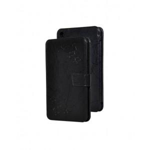 Чехол горизонтальная книжка подставка текстура Узоры на силиконовой основе на магнитной защелке для Xiaomi Mi Pad 4  Черный