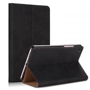 Чехол книжка подставка на непрозрачной поликарбонатной основе с тканевым покрытием для Xiaomi Mi Pad 4  Черный