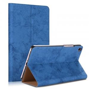 Чехол книжка подставка на непрозрачной поликарбонатной основе с тканевым покрытием для Xiaomi Mi Pad 4  Синий