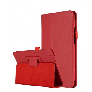 Чехол книжка подставка с рамочной защитой экрана и магнитной защелкой для Xiaomi Mi Pad 4  Красный