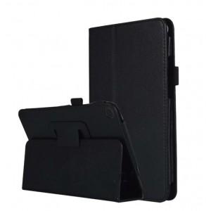 Чехол книжка подставка с рамочной защитой экрана и магнитной защелкой для Xiaomi Mi Pad 4  Черный